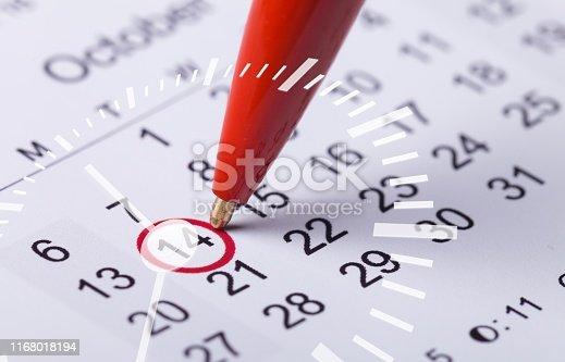 istock Calendar. 1168018194
