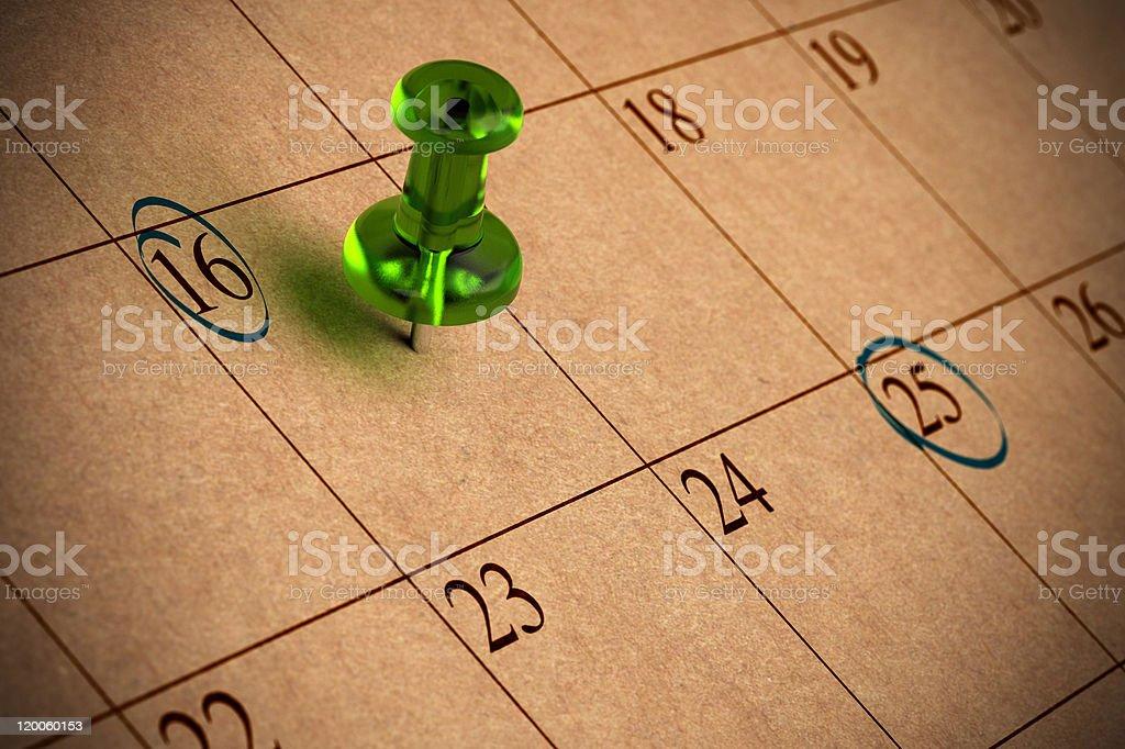 Kalender - Lizenzfrei 16 Stock-Foto