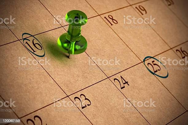 Kalender Stockfoto und mehr Bilder von 16