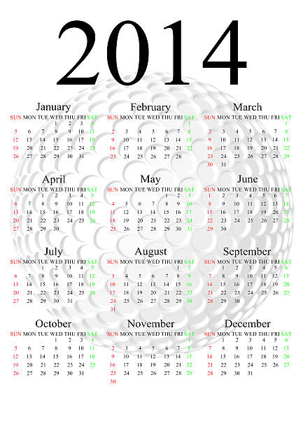 November Calendar 2014 Stock Photos, Pictures & Royalty