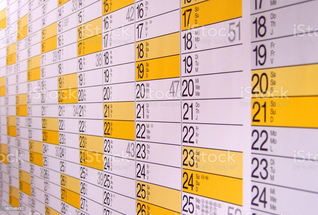 Calendário - foto de acervo