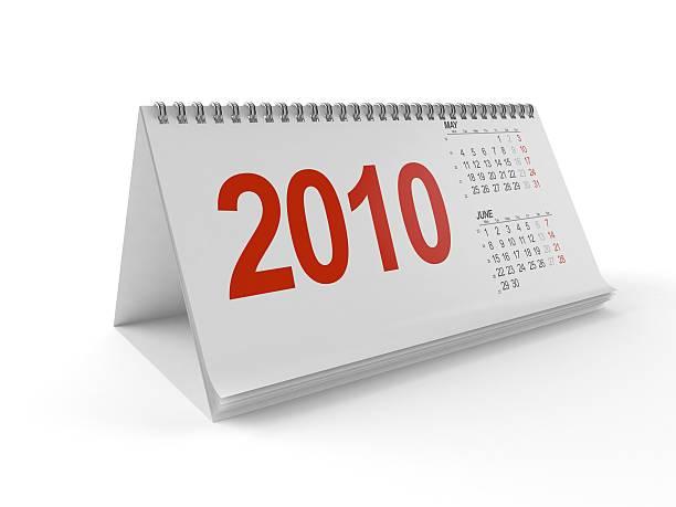 calendario 2010 - 2010 foto e immagini stock