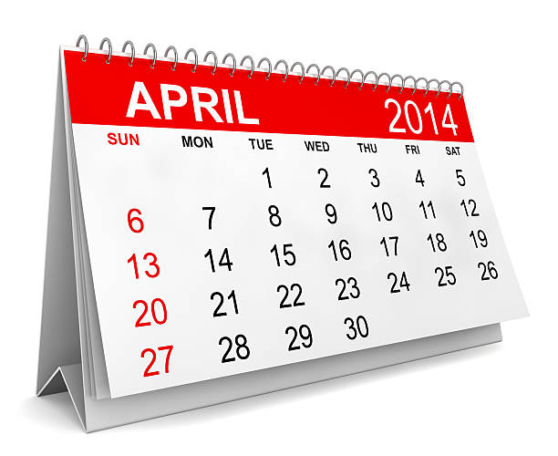 2014 Calendar 2014 Calendar. Week starts with sunday. 3d illustration on white background 2014 stock pictures, royalty-free photos & images