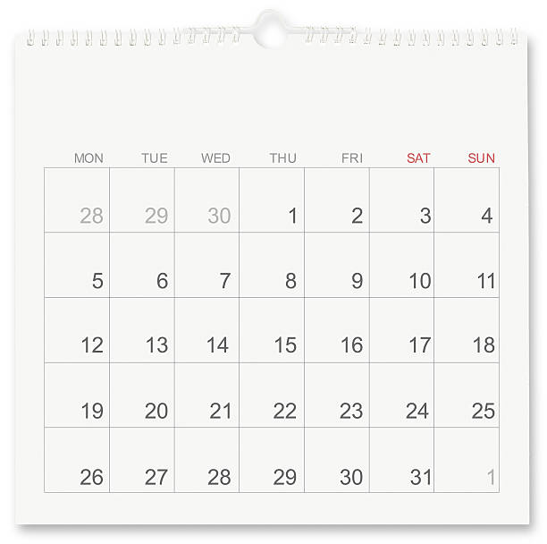 Calendar Calendar isolated on white month stock pictures, royalty-free photos & images
