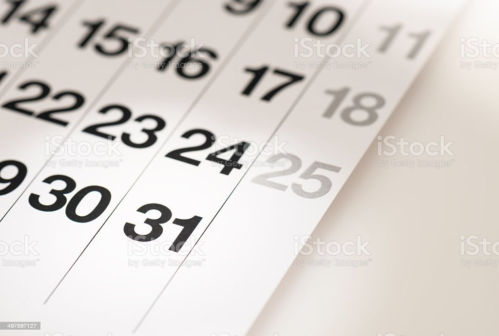 Calendar. stock photo