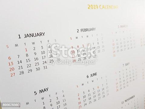istock 2019 calendar 895626560
