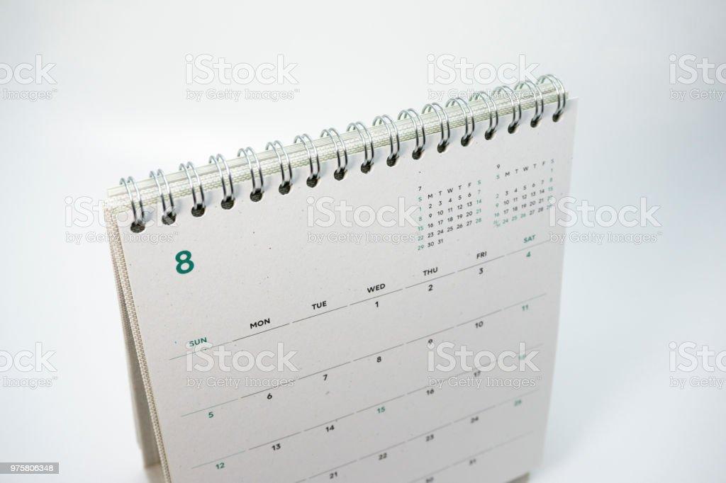 2018 calendar stock photo