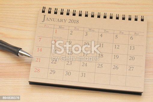 istock calendar planner or 2018 schedule arrangement on wood background 894838376