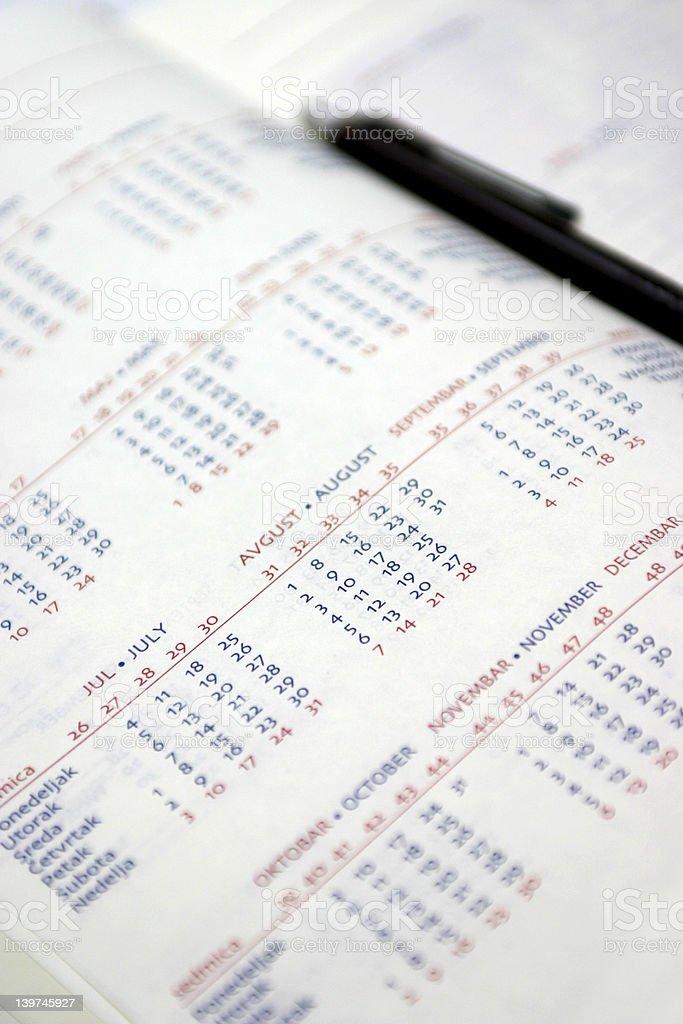 Calendar planner royalty-free stock photo