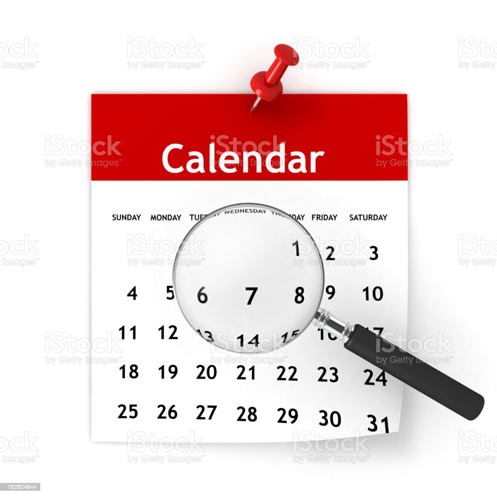Calendar Planning royalty-free stock photo