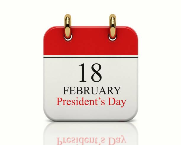 dia de presidentes de calendário - presidents day - fotografias e filmes do acervo