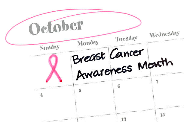 calendar series breast cancer awareness month - breast cancer awareness 個照片及圖片檔