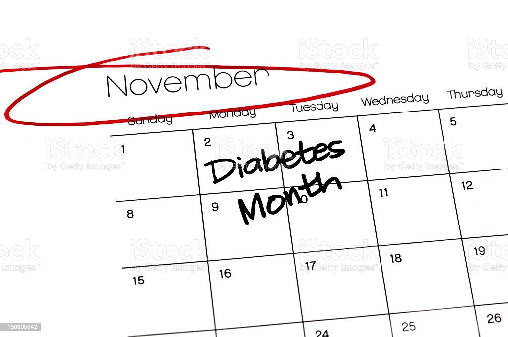 Calendar Series Diabetes Month royalty-free stock photo