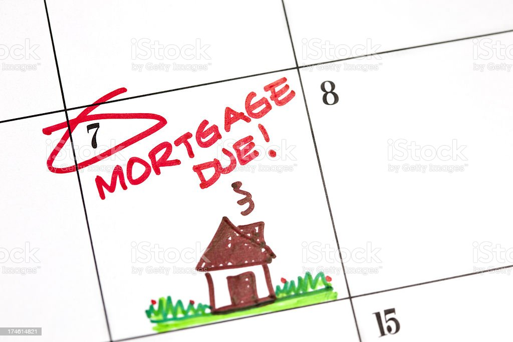 Calendar Series | Mortgage Due royalty-free stock photo