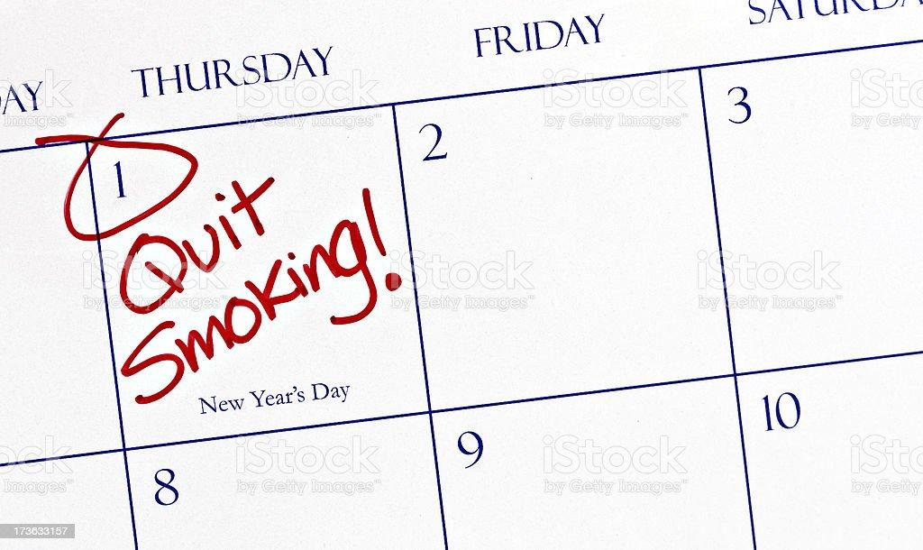 Calendar Series | Resolutions - Quit Smoking royalty-free stock photo