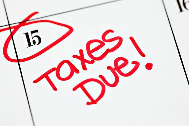Calendar Series   Taxes Due stock photo