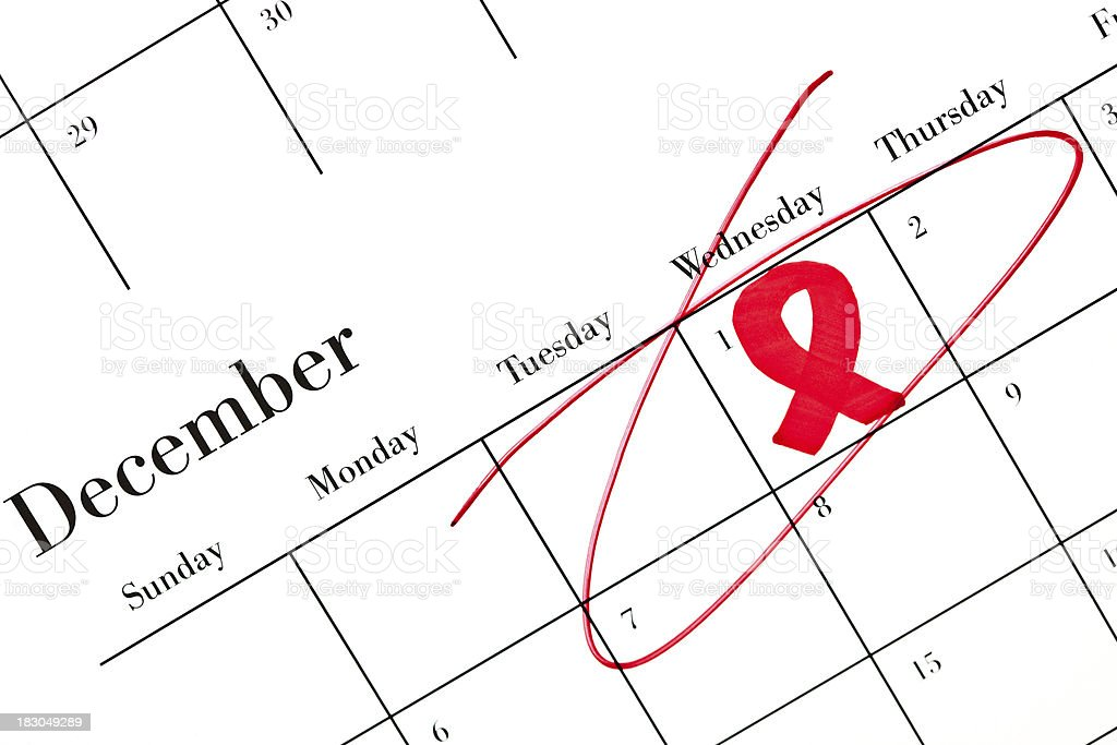 Calendar Series World AIDS Day royalty-free stock photo