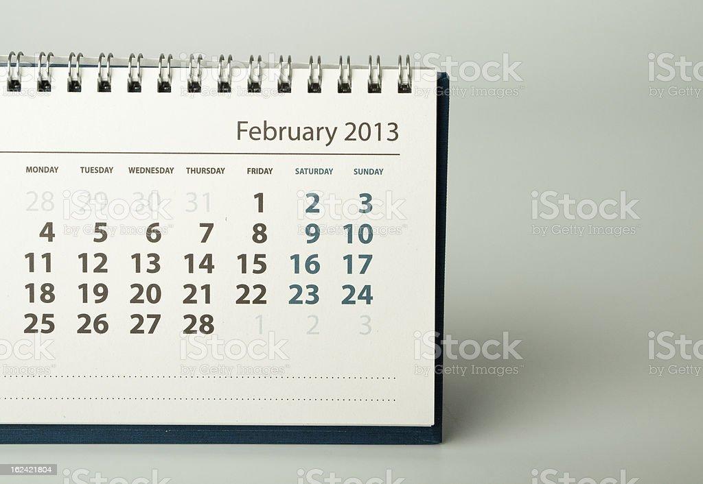 Calendar sheet. February royalty-free stock photo