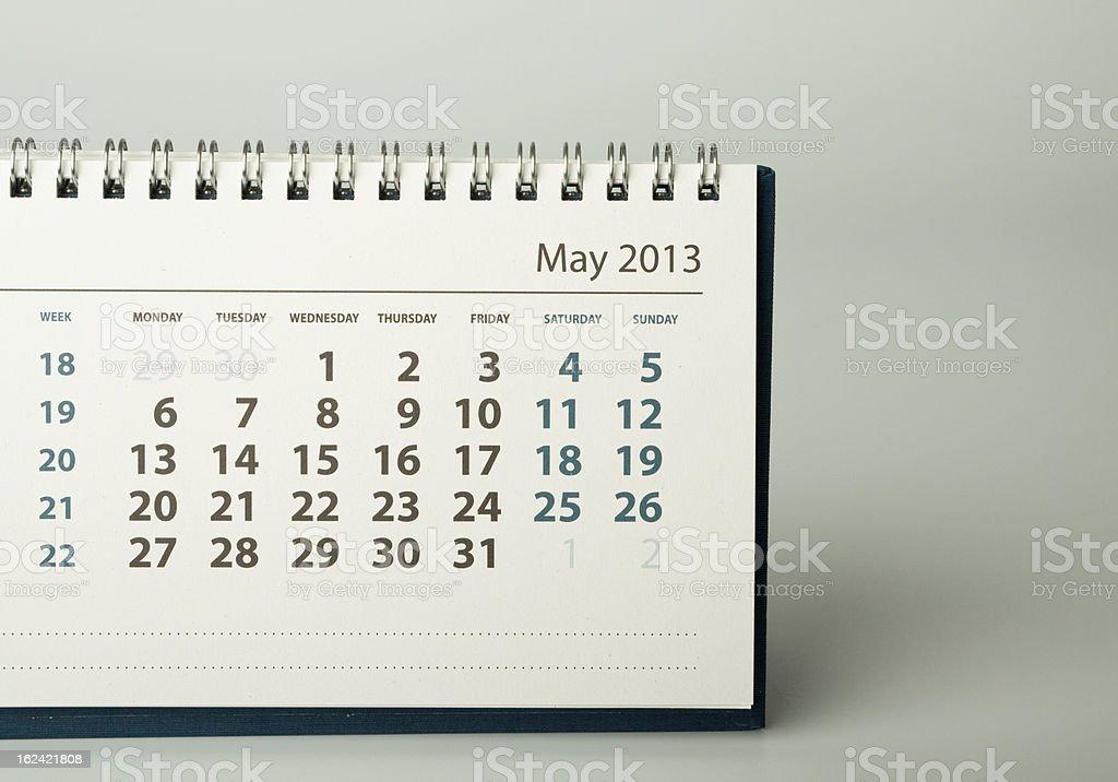 Calendar sheet. May royalty-free stock photo