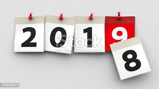istock Calendar sheets 2019 919794372
