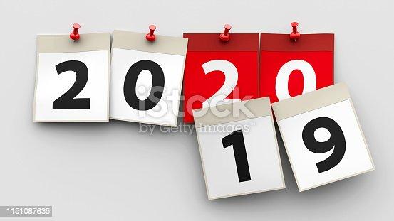 1027407218 istock photo Calendar sheets 2020 1151087635