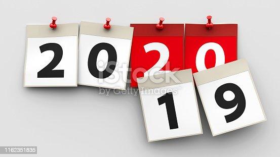 istock Calendar sheets 2020 1162351835