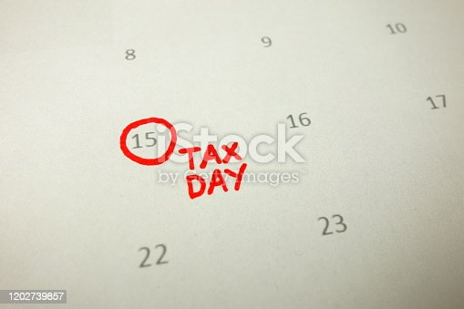 1185240988 istock photo Calendar showing date April 15 1202739857
