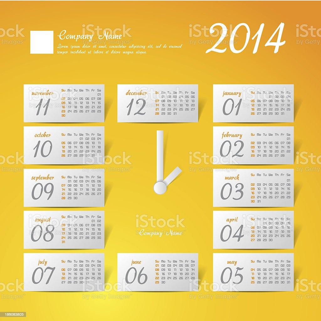 calendar stylized clock royalty-free stock photo