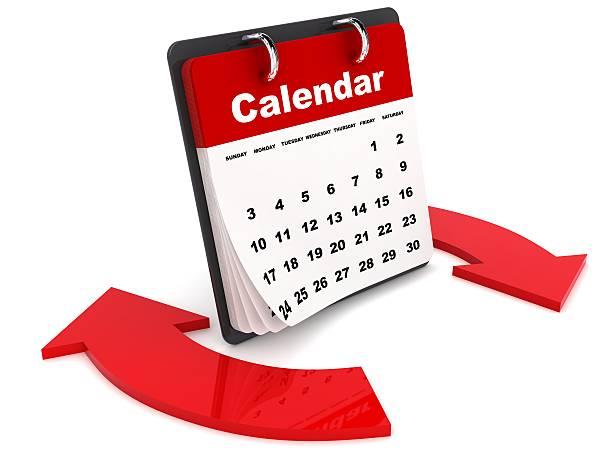 kalender-synchronisation - kalender icon stock-fotos und bilder