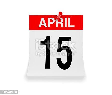 Calendar tax day April 15