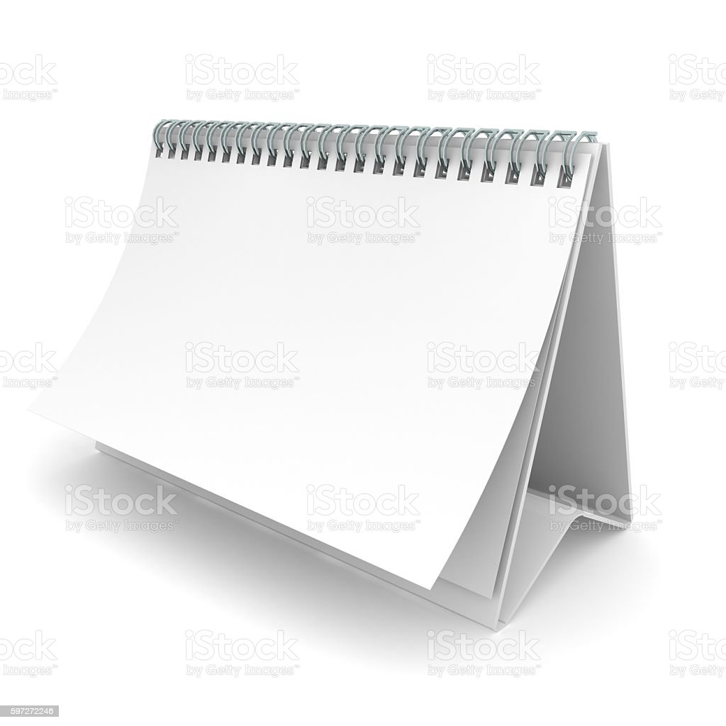 Calendar template blank isolated royalty-free stock photo