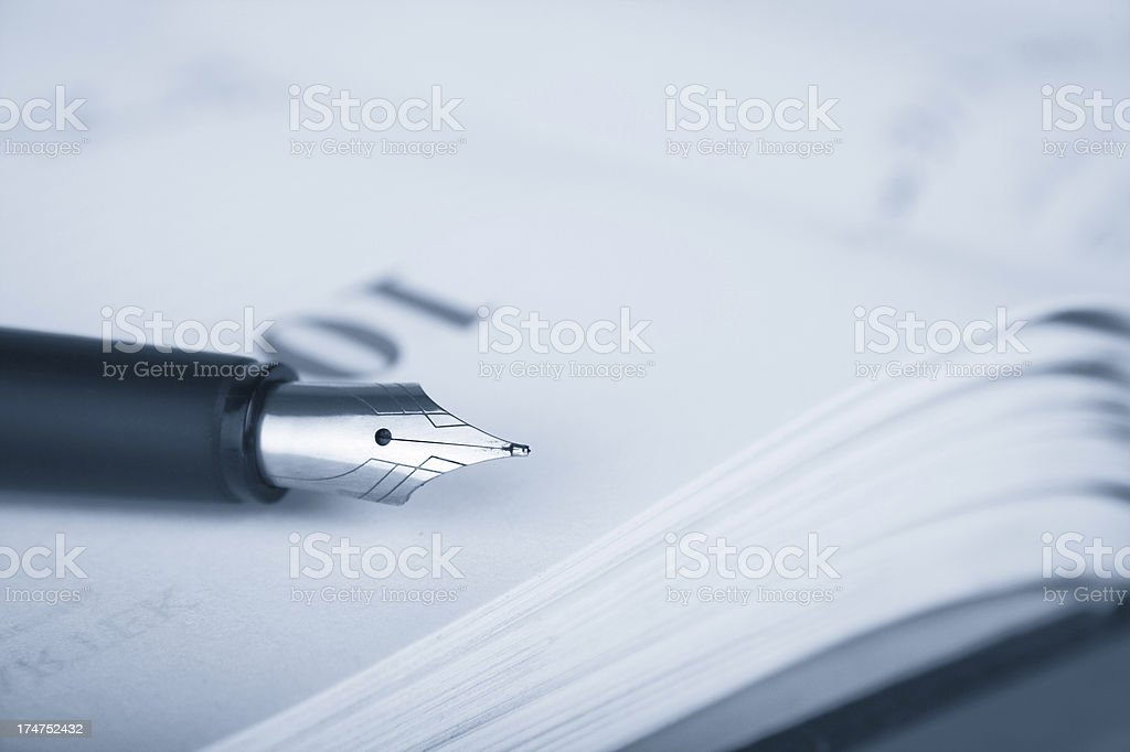 Calendar with pen royalty-free stock photo