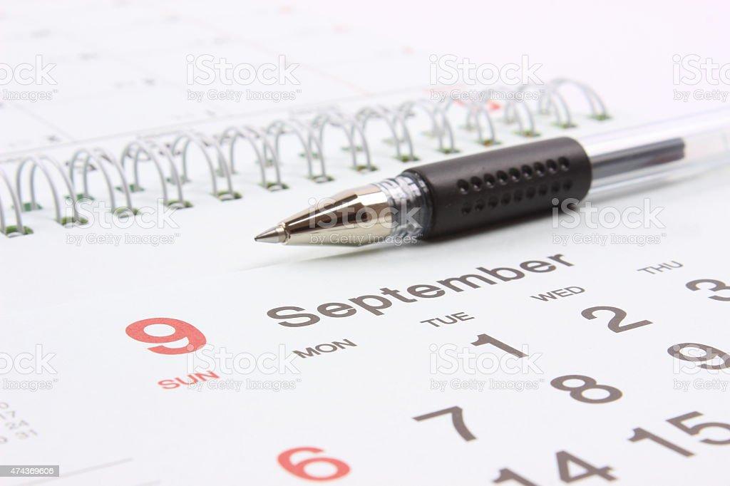 Calendar with pen Calendar with pen 2015 Stock Photo