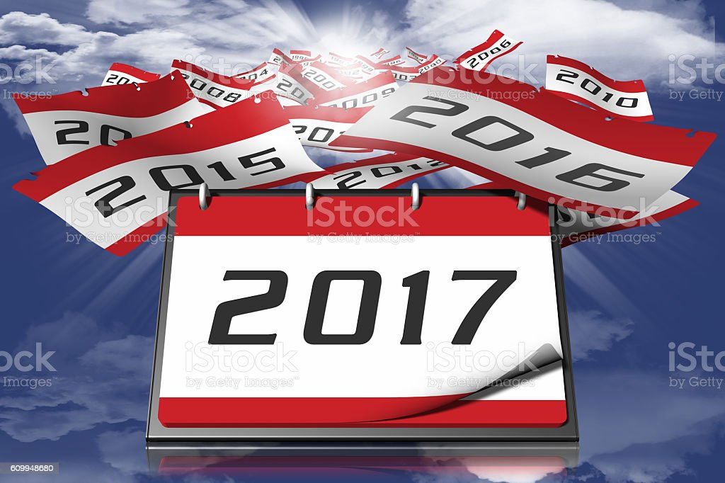 Calendar year 2017 sky 002 stock photo