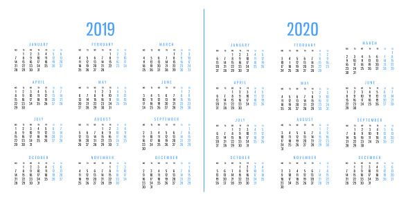 istock Calendars of 2019 and 2020 1051262264
