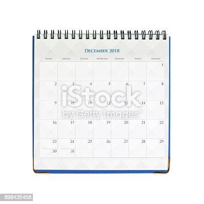 istock Calenday December 2018 898435458