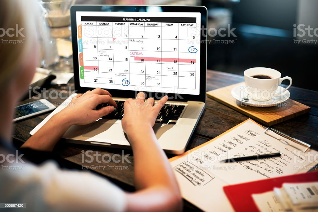 Calender Planner Organization Management Remind Concept圖像檔