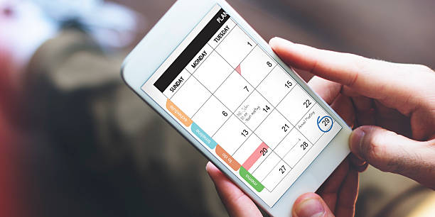 Calender Remind Communication Data Information Concept stock photo