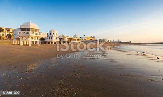 istock Caleta  Beach in sunrise time. Cadiz 623351390