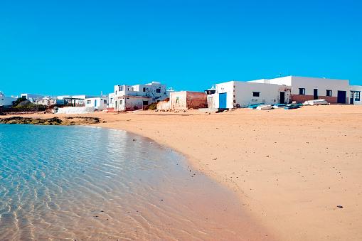 Caleta del Sebo in La Graciosa, Canary Islands, Spain