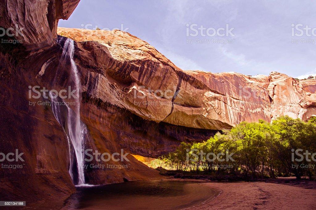 Calf Creek falls, Utah stock photo