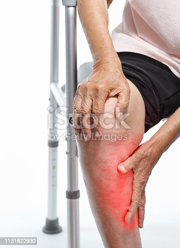 698466046istockphoto Calf pain in elderly woman 1131822930