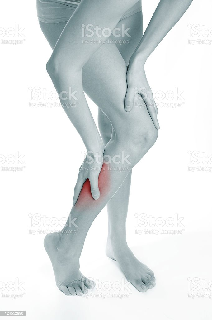 Calf pain royalty-free stock photo