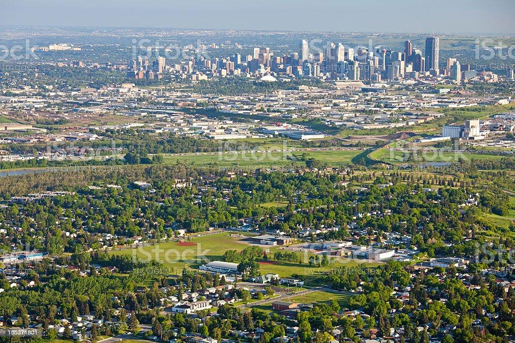 Calgary Aeriel royalty-free stock photo