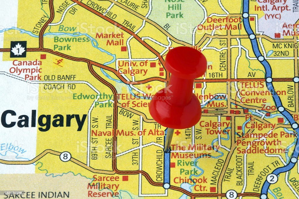 Calgary Alberta Canada On A Map Stock Photo More Pictures Of