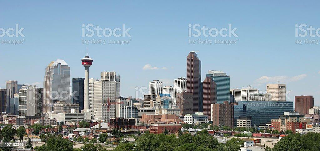 Calgary Alberta Skyline Panorama stock photo