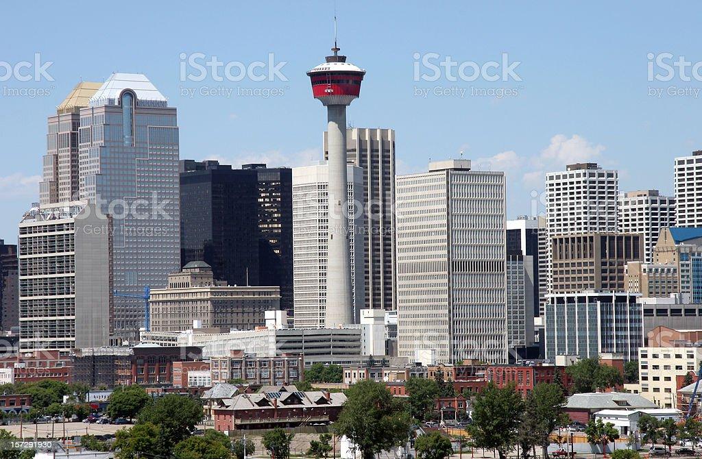 Calgary Alberta Skyline.Downtown Core stock photo