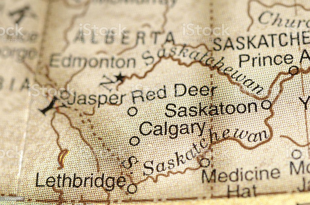 Calgary and Saskatoon stock photo