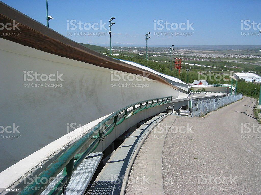 Calgary Bobsleigh Track stock photo