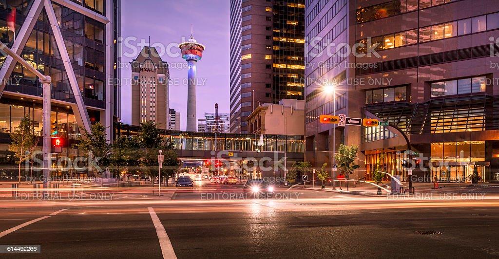 Calgary city center stock photo